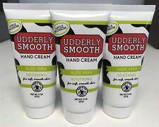 (3) Pk Udderly Smooth Nourishing Hand Cream Aloe Vera & Apple Blossom 2oz D5