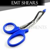 "EMT Shears (Scissors) Bandage Paramedic EMS Rescue Supplies 5.50"" ROYAL BLUE TIP"