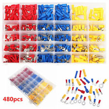 480pcs Assorted Car Electrical Wire Terminals Insulated Crimp Connectors Box Kit