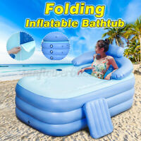 Portable Inflatable Adults Tubs Travel Bath PVC Bathtub Shower Spa Swimming Pool