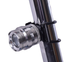 JCOOL Spot Rear Bright Bike LED Cycle Light 15 Lumen CNC Alloy Silver 4 Modes