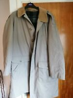 "Men's vintage overcoat with wool lining and courderoy collar to fit 42"" chest"