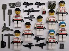 8 LEGO ARMY SOLDIERS MINIFIGS LOT figures men halo SWAT TEAM weapon city res-q