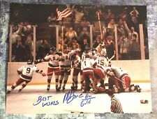GFA 1980 Miracle on Ice Captain MIKE ERUZIONE Signed 11x14 Photo M2 COA
