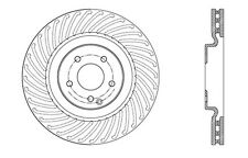 Centric Parts 121.35052 Front Disc Brake Rotor