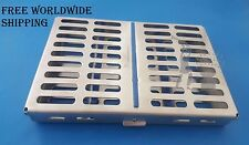 Dental Sterilization Cassette Rack Trays for 10 Instruments Dental Implant Tools