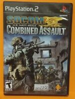 Socom Combined Assault Seals PS2 Playstation 2 COMPLETE Game 1 Owner  Mint Disc