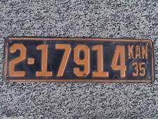 ANTIQUE 1935 KANSAS LICENSE TAG/PLATE - #2-17914