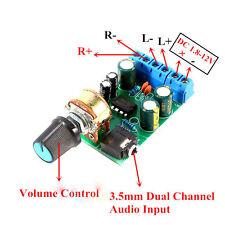 Portátil DC 1.8-12V TDA2822M Amplificador 2.0 Canales Estéreo Amplificador Audio Placa Módulo