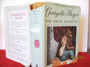 Georgette Heyer THE GREAT ROXHYTHE 1951 HCDJ  HISTORICAL FICTION very rare