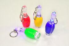 6x Bowling Pins LED 7cm Schlüsselanhänger Kegeln Mitgebsel Taschenlampe