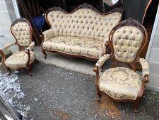 3 Piece Victorian Walnut Parlor Set