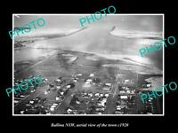 OLD POSTCARD SIZE PHOTO OF BALLINA NSW AERIAL VIEW OF THE TOWN c1920 1