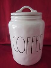 RAE DUNN MAGENTA INC CERAMIC COFFEE CANISTER CONTAINER JAR W/LID NEW