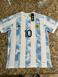 BRAND NEW 2021/22 Adidas Argentina Home Jersey Messi #10