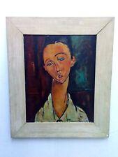 oil on wood , Modigliani -Lunia Czechowska , to M. Rilla Canel reproduction 1966