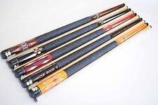 """SET OF 5 POOL CUES New 58"""" Canadian Maple Billiard Pool Cue Stick #8 PLUS SHIP"""