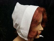 Girls womens Coif Bonnet Cap Tudor Elizabethan Medieval Colonial Pilgrim cap