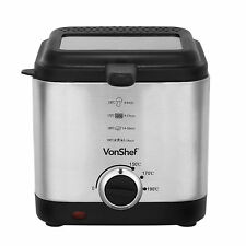 VonShef 1.5l Deep Fat Fryer Compact 900w up to 190 Degrees Only