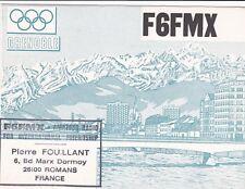 O181 Carte QSL Radio Amateur Opérateur F9FMX de Pierre FOUILLANT a ROMANS