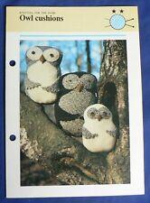 Odhams Leisure 'Owl Cushions' knitting pattern leaflet [BOT]