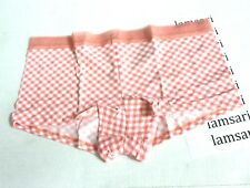 Victoria's Secret Sheer Stripe Waistband Logo Shortie Panty Size L Aloha Gingham