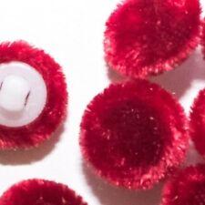 Crushed Velvet 36L//23mm Rojo Tela De Tapicería Cubierto Botones Artesanía Costura
