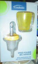 NEW Trudeau Yellow SPEED Pourer Liquor Measuring CUP Alcohol Pour WINE Oil