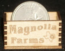 Dollhouse Miniature Magnolia Farms Produce Crate 1:12 Scale / Texas