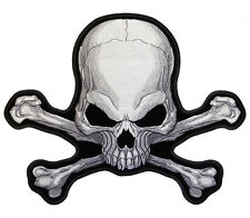 SKULL CROSS BONES EMBRODIERED PATCH P5160 new pirate iron on sewon patches  sew
