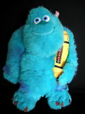 """DISNEY PIXAR MONSTERS INC LARGE 15"""" TALKING SULLEY SOFT PLUSH TOY EX CONDITION"""