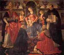 Ghirlandaio Domenico Madonna e Bambino incoronato tra angeli e Santi A4 pr