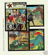 25 PC JIGSAW PUZZLE (4 PACKS) BOYS THEME
