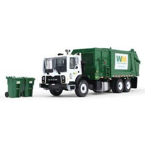 1/34 Mack TerraPro w/ Side Load Waste Manage Refuse Truck & Trash Carts 10-4004B