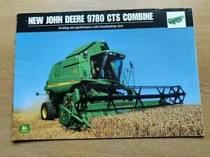 JOHN DEERE 9780 CTS COMBINES COLOUR FARMING TRACTOR BROCHURE PRE USED IN VGC