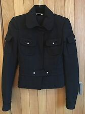 Balenciaga Runway 2005 Fall/Winter Black Military Jacket - Size 36