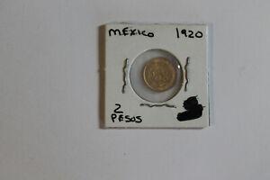 Stunning 1920 Mexico Dos 2 Pesos Gold Nice Coin