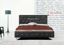 #4008 Gorgeous Modern Cal/Eastern King Size Black PU Leather bed