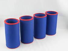 4er Set Getränkekühler 0,5l Dose - Bierkühler - Neoprenkühler - passgenau - blau