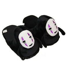 Studio Ghibli Spirited Away No Face Faceless Adult Home Plush Slipper 1 Pair