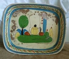 Vintage Mexican Casserole Hand painted Pottery