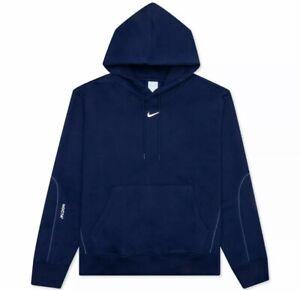 Nike x NOCTA Drake Cardinal Stock Hoodie Navy Blue Men's size LARGE DA3920-492
