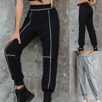Women High Waist Streetwear Casual Sport Pant Street Trousers Joggers Sweatpants