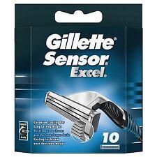 10 Gillette Sensor Excel Razor Blades