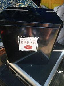 Black Metal Bread Bin