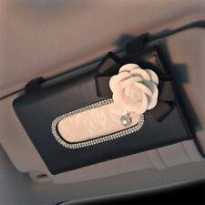 Crystal Car Tissue Box for Sun Visor PU Leather Auto Hanging Tissue Box Holder