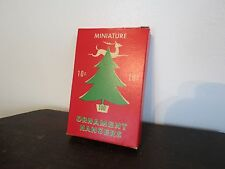 Ornament Hangers. Original Box. Mid-1930s. USA.  National Tinsel Mfg. Company