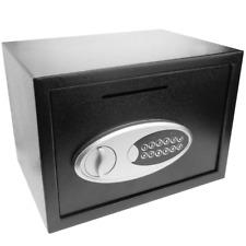 Caja fuerte de seguridad de acero con llaves y ranura 35x25x25cm