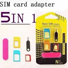 SIM Card Adapter 5in1 kits Nano Micro Standard Size Converter Tray for IPhone *K
