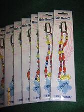 "8 Hair Beads  ""BAILEY"" Hair Beads - BLUE- Stravina Hair Beadz / Children 4& Up"
